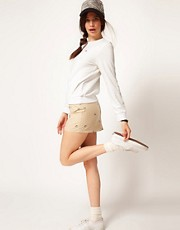 Lacoste Live Swallow Embroidered Skirt