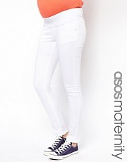 Vaqueros pitillo en color blanco Elgin de ASOS Maternity