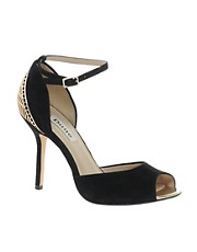 Dune Heritage Caged Back Peep Toe Shoes