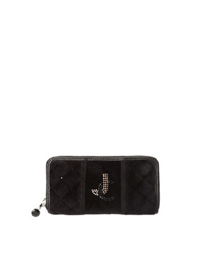 Image 1 ofJuicy Couture Quilted Velour Zip Wallet