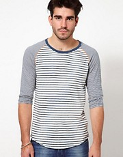 Nudie 3/4 Sleeve Tee Mixed Stripes
