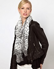 Whistles Large Net Crinkle Scarf