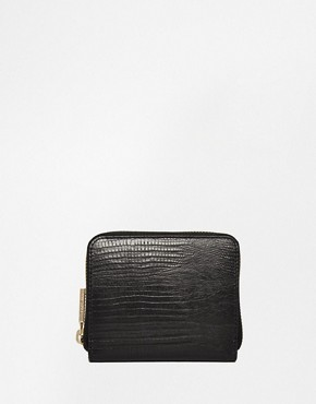 Whistles Leather Purse in Lizard Effect