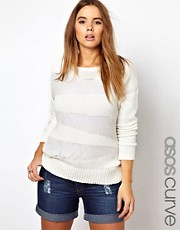 ASOS CURVE - Maglia con rete trasparente