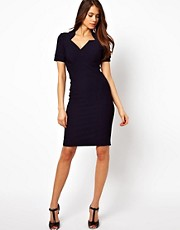 Vesper Pencil Dress with Wrap Front