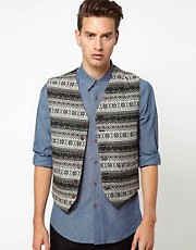 ASOS Vest in Fairisle