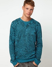 ASOS Sweatshirt With All Over Animal Print