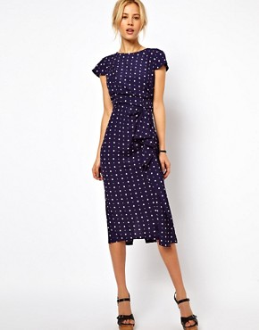 Image 1 of ASOS Tulip Dress With Waterfall Skirt