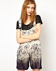 HOUSE OF HACKNEY Silk Velvet Dungarees in Dalston Rose Print