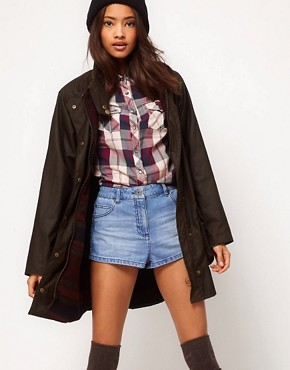 Image 1 ofCooper &amp; Stollbrand Oversized Check Lined Wax Jacket