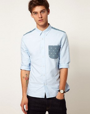 Image 1 ofASOS Oxford Shirt With Umbrella Print