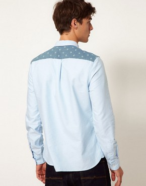 Image 2 ofASOS Oxford Shirt With Umbrella Print
