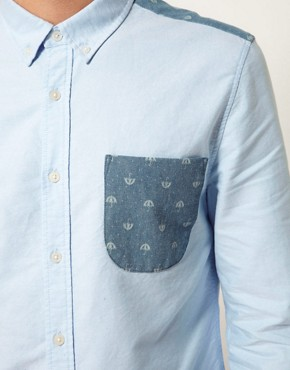 Image 3 ofASOS Oxford Shirt With Umbrella Print