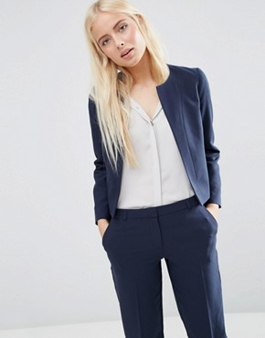 ASOS Crop Tailored Blazer in Crepe
