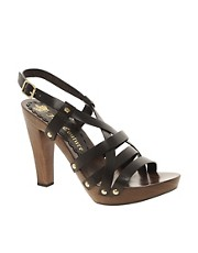 Juicy Couture Cooper Leather Flat Sandal