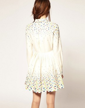Image 2 ofASOS Fit And Flare Dress With Embroidered Spot