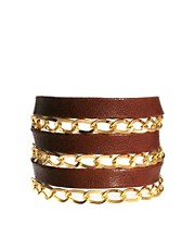 Gorjana Graham Leather and Chain Triple Wrap Bracelet