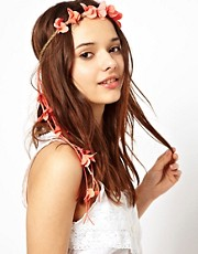 River Island Bright Floral Garland Head Band