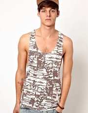 ASOS Vest With All Over Abstract Print