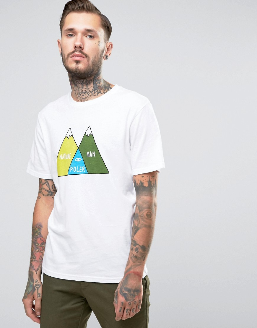 poler-t-shirt-with-mountain-print-white