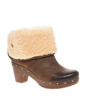 Image 1 ofUGG Lynnea Burnished Leather Clog Boot