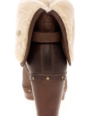 Image 2 ofUGG Lynnea Burnished Leather Clog Boot