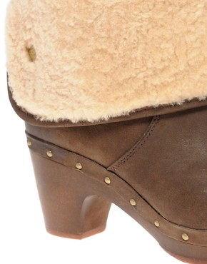 Image 3 ofUGG Lynnea Burnished Leather Clog Boot