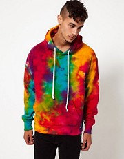 Reclaimed Vintage Hoodie with Tye-Dye