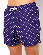 ASOS Swim Shorts With Polka Dot Print
