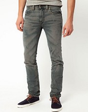 Diesel - Thavar 0807C - Jeans slim con trama a vista