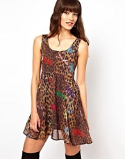 Joyrich Leopard Print Mini Dress