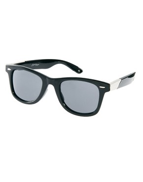 Image 1 ofJeepers Peepers Winston Black Wayfarer Sunglasses