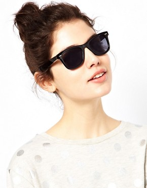 Image 3 ofJeepers Peepers Winston Black Wayfarer Sunglasses