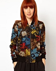 WoodWood Olga Bomber Jacket in Floral Organza