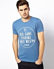Jack &amp; Jones  T-Shirt with Fishing Print