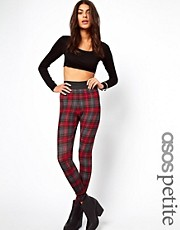 ASOS PETITE Exclusive Leggings In Check With Elastic Band