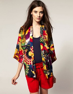 Image 1 ofVero Moda Kapow Print Kimono Jacket