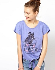 Brat &amp; Suzie Teacup Mouse Tie Front T-Shirt