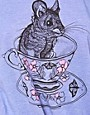 Image 3 ofBrat &amp; Suzie Teacup Mouse Tie Front T-Shirt
