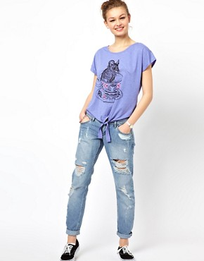 Image 4 ofBrat &amp; Suzie Teacup Mouse Tie Front T-Shirt