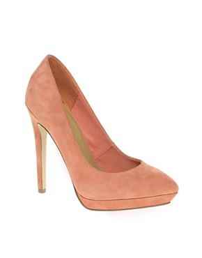 Image 1 ofASOS PROP Suede Pointed Platforms
