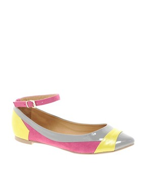 Image 1 of ASOS LUSH Pointed Ballet Flats