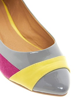 Image 2 of ASOS LUSH Pointed Ballet Flats