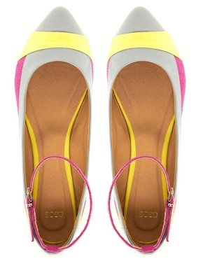 Image 3 of ASOS LUSH Pointed Ballet Flats