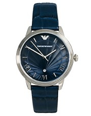 Emporio Amrani Blue Leather Strap Watch AR1651