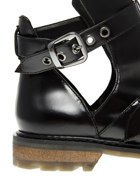 Image 2 ofASOS ALTON Leather Cut Out Ankle Boot