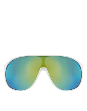 Image 2 ofJeepers Peepers Rena White Visor Sunglasses