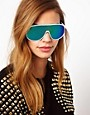 Image 3 ofJeepers Peepers Rena White Visor Sunglasses