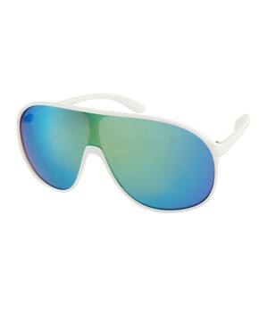 Image 1 ofJeepers Peepers Rena White Visor Sunglasses