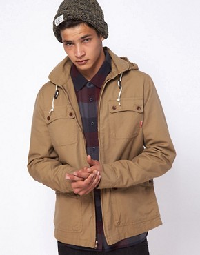 Image 1 ofVans California Jacket Carlsbad Detatchable Hooded Military